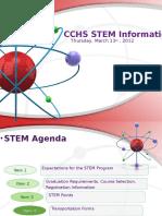 cchs stem curriculum night