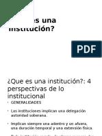 Qué Es Una Institución