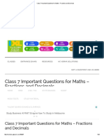Class 7 Important Questions for Maths – Fractions and Decimals.pdf