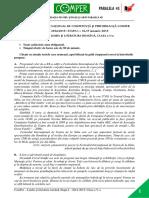 Subiect Si Barem LimbaRomana EtapaI ClasaV 14-15