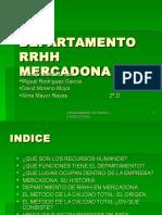 Departamento Rrhh Mercadona