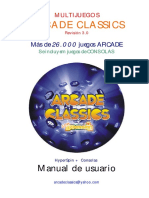 Manual Multijuegos ARCADE CLASSICS v3