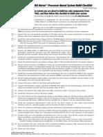 AMD Athlon and Duron Processor - Based System Build Checklist