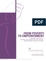 From Poverty to Empowerment a Research Report on Women and Community Economic Development CED in Canada