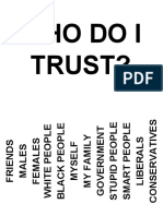 Who do I Trust