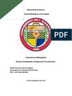 Practica Fundamento y Preparación de soluciones