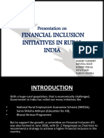 Financial Inclusion in rural India - an initiative