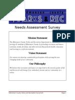 edmonson county parks and recreation needs assessment survey