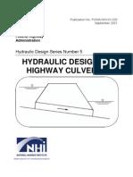 Hydraulic Design of Highway Culverts
