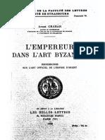 GRABAR, L'Empereur Dans l'Art Byzantin