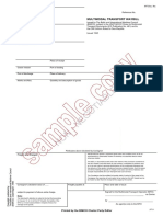 Sample Copy Multiwaybill 95