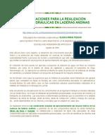 .Consideraciones Para La Realización de Obras Hidráulicas en Laderas Andinas