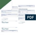 Ficha de Inscrição Modelo Simples Duplicado
