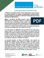 Nota de Prensa Nº 012-2016