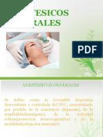 Farmacologia anestesicos generales