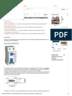Disyuntor Diferencial e Interruptor Termomagnetico