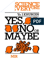 Science for Everyone by Ya. I. Khurgin-Yes, No or Maybe (Science for Everyone)