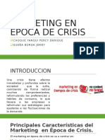Marketing en Epoca de Crisis