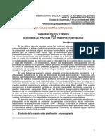Capacidad Política y Técnica en La Gestión de Las Políticas y Los Presupuestos Públicos