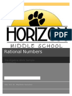 rational numbers work sample