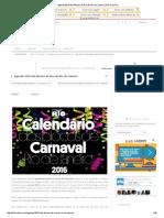 Agenda 2016 Dos Blocos de Rua Do Rio de Janeiro _ Diário Do Rio