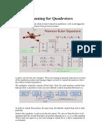 Aerial Robotics Lecture 3B_3 Motion Planning for Quadrotors