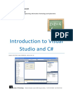 Introduction to Visual Studio and CSharp