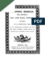 Historia Militar Del General Don Jose Maria Morelos l