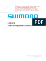 Shimano 2010 Bicycle Parts Compatibility Chart