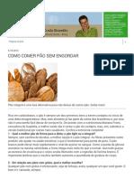 Boas Práticas Farmacêuticas- Como Comer Pão Sem Engordar