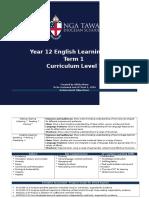 year 12 english learning plan