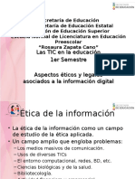 Aspectos éticos y legales del uso de información digital