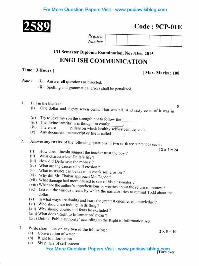 1st year DIP English Communication - Dec 2015 pdf