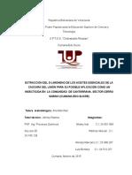 EXTRACCIÓN DEL D-LIMONENO DE LOS ACEITES ESENCIALES DE LA CASCARA DEL LIMÓN PARA SU POSIBLE APLICACIÓN COMO UN INSECTICIDA EN  LA COMUNIDAD  DE CANTARRANA, SECTOR CERRO SABINO (CUMANÁ-EDO-SUCRE)