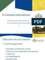 Clausulas El Contrato Internacional II