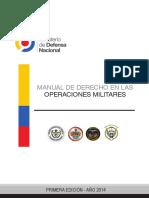 Manual de Derecho en Las Operaciones Militares