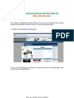Manual Publicar Sitio Web