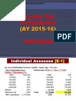 3A Income Tax Computation Individuals AY 2015-16