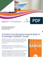IIBA BABOK V3 Overview%2cRochester IIBA Chapter%2c Nov-2015