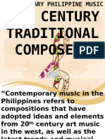 20th Contemporary Filipino Composers
