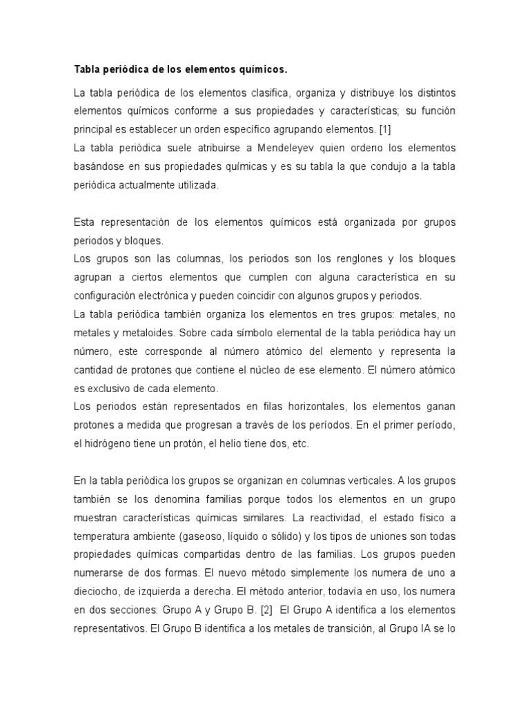Tabla peridica de los elementos qumicos urtaz Image collections