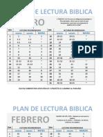 Plan de Lectura Biblica 2015
