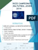 Directrices Campeonato Clausura Futbol Joven 2014