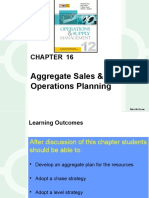 Aggregate (Sales & Operations) Planning