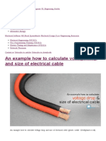An Example How to Calculate Voltage Drop and Size of Electrical Cable