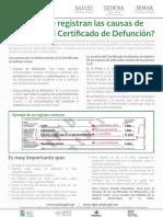 Como Se Registran Las Causas de Muerte en El Certificado de Defuncion