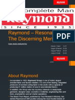 Raymond – Resonating the Discerning Men