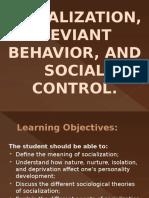 Socialization, Deviant Behavior, And Social Control