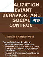 Socialization, Deviant Behavior, And Social Control