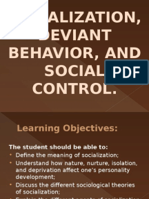 deviant behavior the social learning theory essay